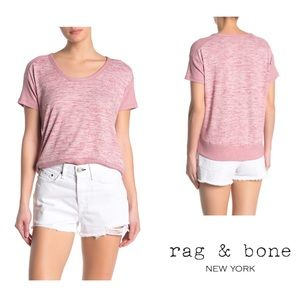 Rag & Bone Ramona Space-Dyed Short Sleeve Tee L